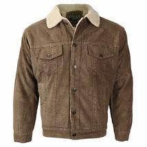 Men's Premium Classic Button Up Fur Lined Corduroy Sherpa Trucker Jacket image 11