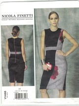 Vogue 1468 Nicola Finetti Sheath Dress Pattern Size 12 14 16 18 20 Uncut - $14.54