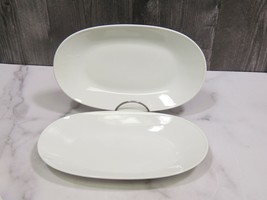 """2 Rosenthal Classic Modern White Oval Relish Trays Sandwich Plates 9.5"""" - $33.66"""