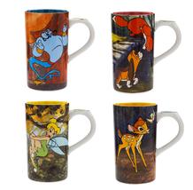 Disney Store Tall Mug Genie  Bambi Tinker Bell Fox Hound 2018 New - $59.95