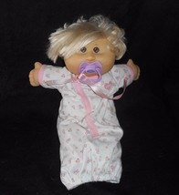 2005 Cabbage Patch Kids Babies Baby Blonde Hair Stuffed Animal Plush Toy Doll - $25.76