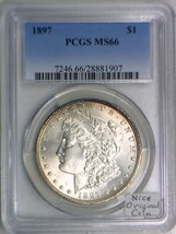 1897 Morgan Dollar PCGS MS-66; Nice Original Coin - $1,088.99