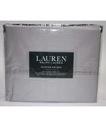 Ralph Lauren Dunham Silver Light Gray Sheet Set Queen - $81.00