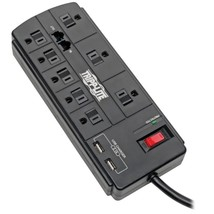 Tripp Lite TLP88TUSBB Protect It! 8-Outlet Surge Protector with 2 USB Ports , 8f - $44.82