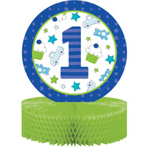 "Doodle 1st Birthday Boy 12"" x 9"" Honeycomb Centerpiece, Case of 6 - £28.72 GBP"