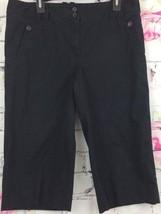 Ann Taylor LOFT Marisa Capris Black Stretch Size 12 - $12.86