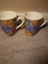 (2)  SWEET SHOPPE  COFFEE MUGS---SANGO-  LEMON MERINGUE  3023  --FREE SH... - $21.77