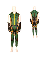 Movie Green Arrow Oliver Cosplay Costume Leather Suit Outfit Set - $158.84