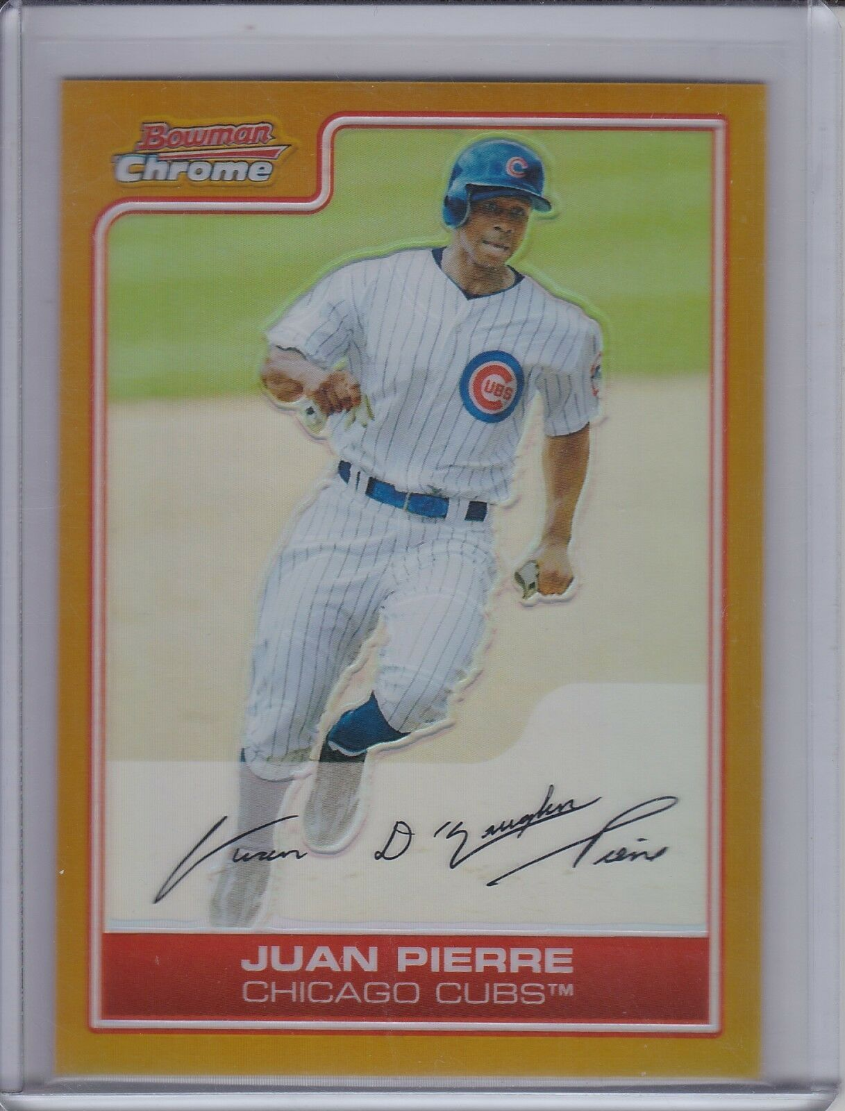 Primary image for JUAN PIERRE 2006 Bowman Chrome Gold Refractor ERROR No Serial Number #51 (D3422)