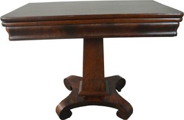 19817 Flame Mahogany Empire Civil War Era Game Table - $385.00