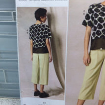 Vogue Sewing Pattern DKNY Donna Karan V1492 E5 14 16 18 20 22 Loose Fitted Top a image 2
