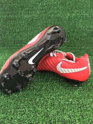 a0ac5cf0501035 Nike tiempo Soccer Cleats Red Silver Size 6 Nike ID Women s Brand New