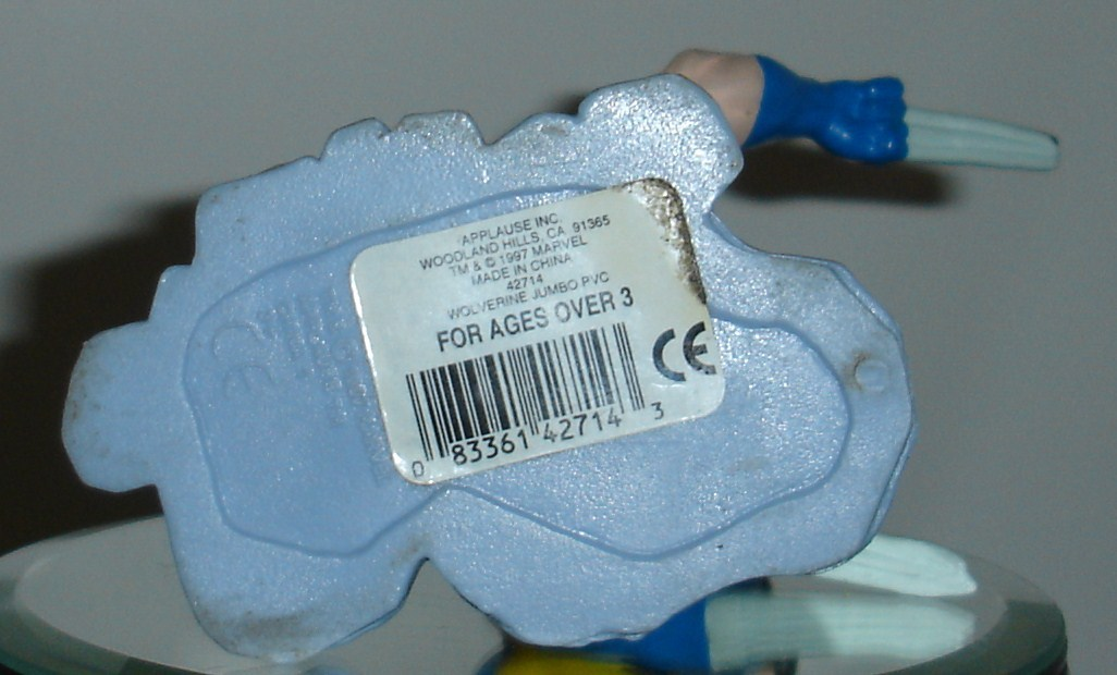 WOLVERINE JUMBO PVC FIGURE APPLAUSE RARE