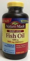 (New) Nature Made Fish Oil 1200 mg,  360 mg OMEGA-3, 200 Softgels - $21.28
