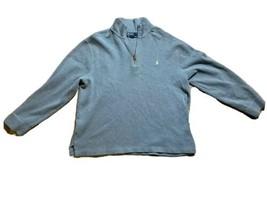 Polo Ralph Lauren 1/4 Quarter Zip Pullover Sweater Mens Sz XL Gray White... - $24.29