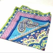 VERA BRADLEY RETIRED CAPRI BLUE SILK SCARF BRAND NEW WITH TAGS - $39.99