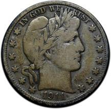 1911S Silver Barber Half Dollar Coin Lot A 352