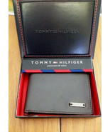 Tommy Hilfiger Trifold Passcase Wallet New In box with Tag Brown Leather - $29.99