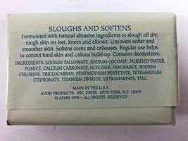 NOS AVON Fancy Feet Double Action Pumice Sloughs Softens Soap 3 oz Bar image 2