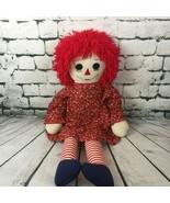 "Jumbo Giant Vtg. Annabelle Raggedy Ann Doll 36"" Scary Halloween Prop Red... - $62.36"