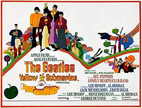 Horizontal beatles yellow submarine poster 36 x 24