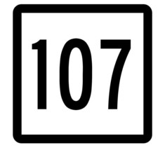 Connecticut State Highway 107 Sticker Decal R5125 Highway Route Sign - $1.45+