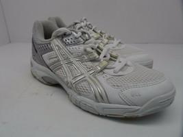 Asics Women's GEL-Rocket 5 Volleyball Shoe White/Silver/Grey Size 7M - £20.16 GBP