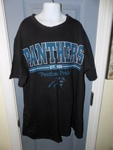 Nfl Team Apparel Carolina Panthers Black T-SHIRT Size M Men's Euc - $22.25