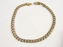 ITALY sterling silver 925 goldtone bracelet 7.8'' long - $22.00