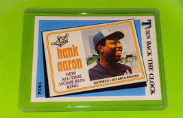VINTAGE MLB HANK AARON ATLANTA BRAVES 1974 TOPPS TURN BACK THE CLOCK 663 - $1.75