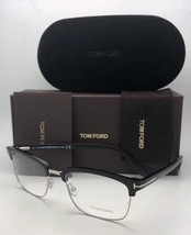 New TOM FORD Eyeglasses TF 5504 005 54-19 145 Black & Silver Frame w/ Clear - $349.95