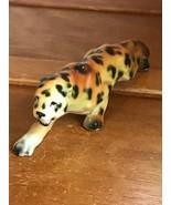 Vintage Bone China Japan Roaring Spotted Leopard Large Cat Figurine – 2 ... - $7.69
