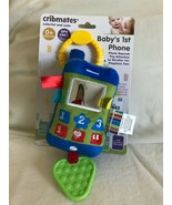 Baby's 1st Phone Plush Squeaker Toy Textured Teether Attaches To Strolle... - $12.64