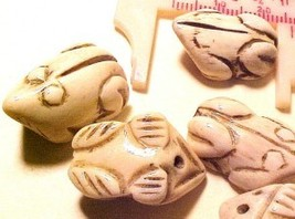 Frog Carved Bone Bead Style #2 - $2.00