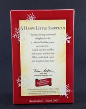 Hallmark Ornament A Happy Little Snowman 2005 image 2