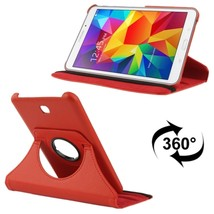 For Galaxy Tab 4 7.0 Red Litchi Leather Case with 2-angle Viewing Holder  - $9.90