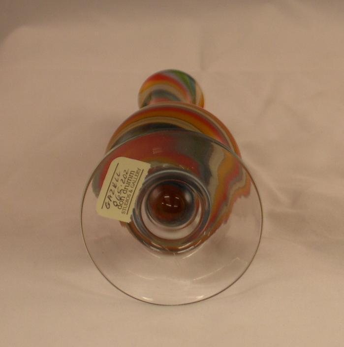 Gazell Studios Art Glass Twisted Vase