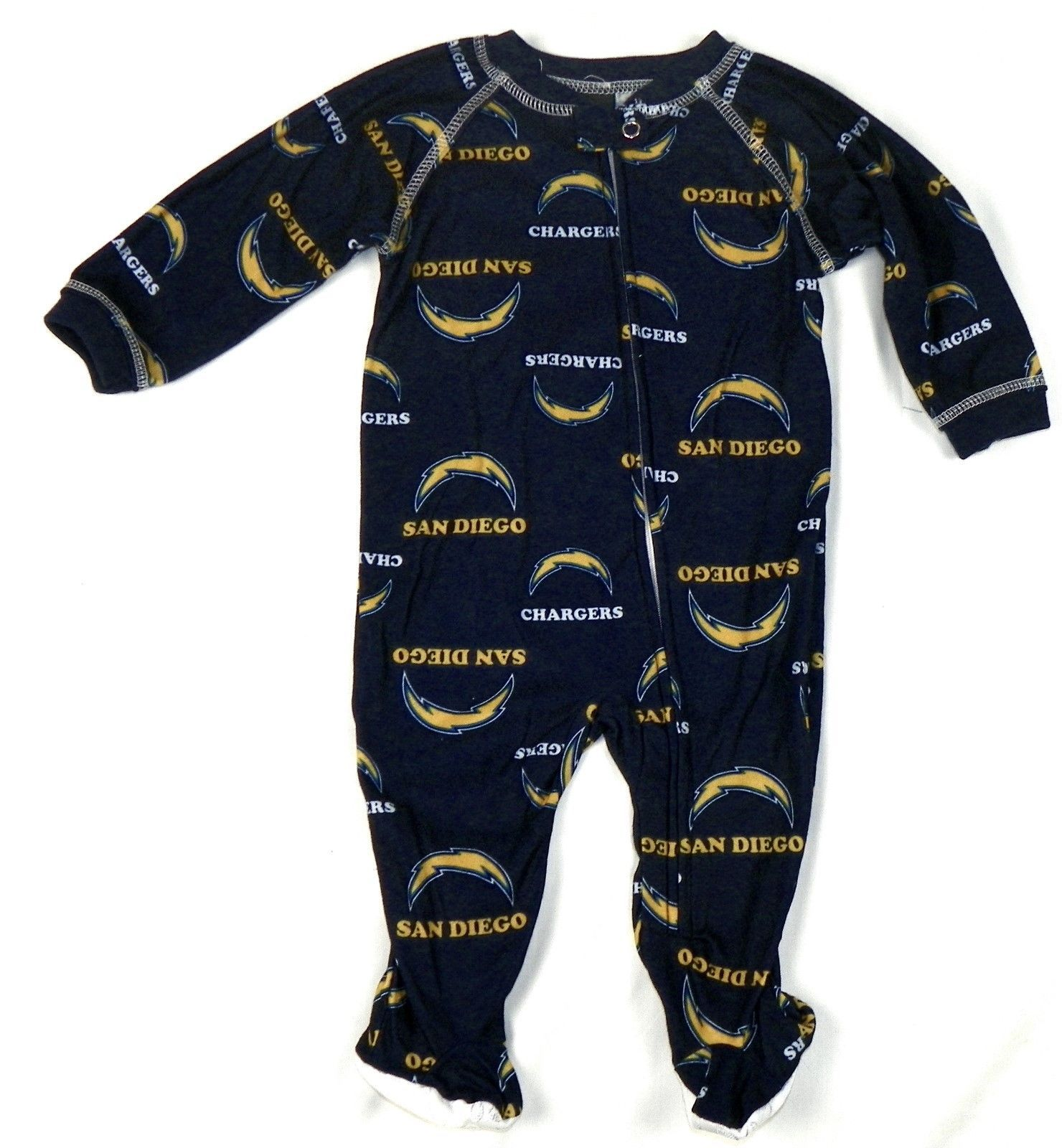San Diego Chargers Infant Coverall NFL Football Baby Full Footed Sleeper Pajamas