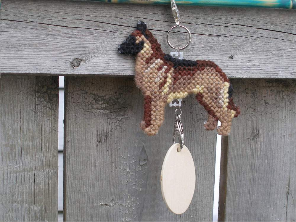 Belgian Malinois crate tag or home decor, hang anywhere, herding dog, handmade