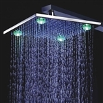 "Primary image for Fontana 8"", 10"", or 12"" Wall Mount LED Rain Shower Head"