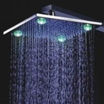 "Fontana 8"", 10"", or 12"" Wall Mount LED Rain Shower Head - $137.00"