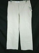 Gap Career Pants Ultra Low Fit Tan Stripe Flat Front Wide Leg Ladies Size 4 New - $32.66