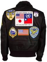 Tom Cruise Top Gun Maverick Fur Collar Aviator Pilot Bomber Real Leather Jacket image 4