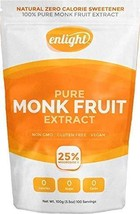 Enlight Pure Monk Fruit Extract 100g - Natural Plant Based Paleo Sugar Free Swee