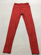Lularoe OS One Size Red Pink Lace Heart Leggings Valentine's Day Collection image 3