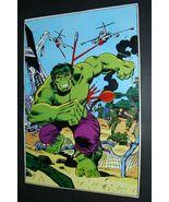Original 1978 Hulk Marvel Comics pin-up poster:Herb Trimpe art/1970s Mar... - $40.00
