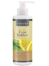 Cuccio Lytes Ultra Sheer Body Butter, White Limetta & Aloe Vera,   8 oz