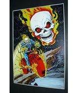 Original 1978 Marvel Comics Ghost Rider comic pin-up poster 1:1970's Mar... - $40.00