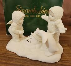 Dept 56 Snowbabies Snowbaby 1993 WHERE DID HE GO? Melting Snowman 68411 ... - $12.00