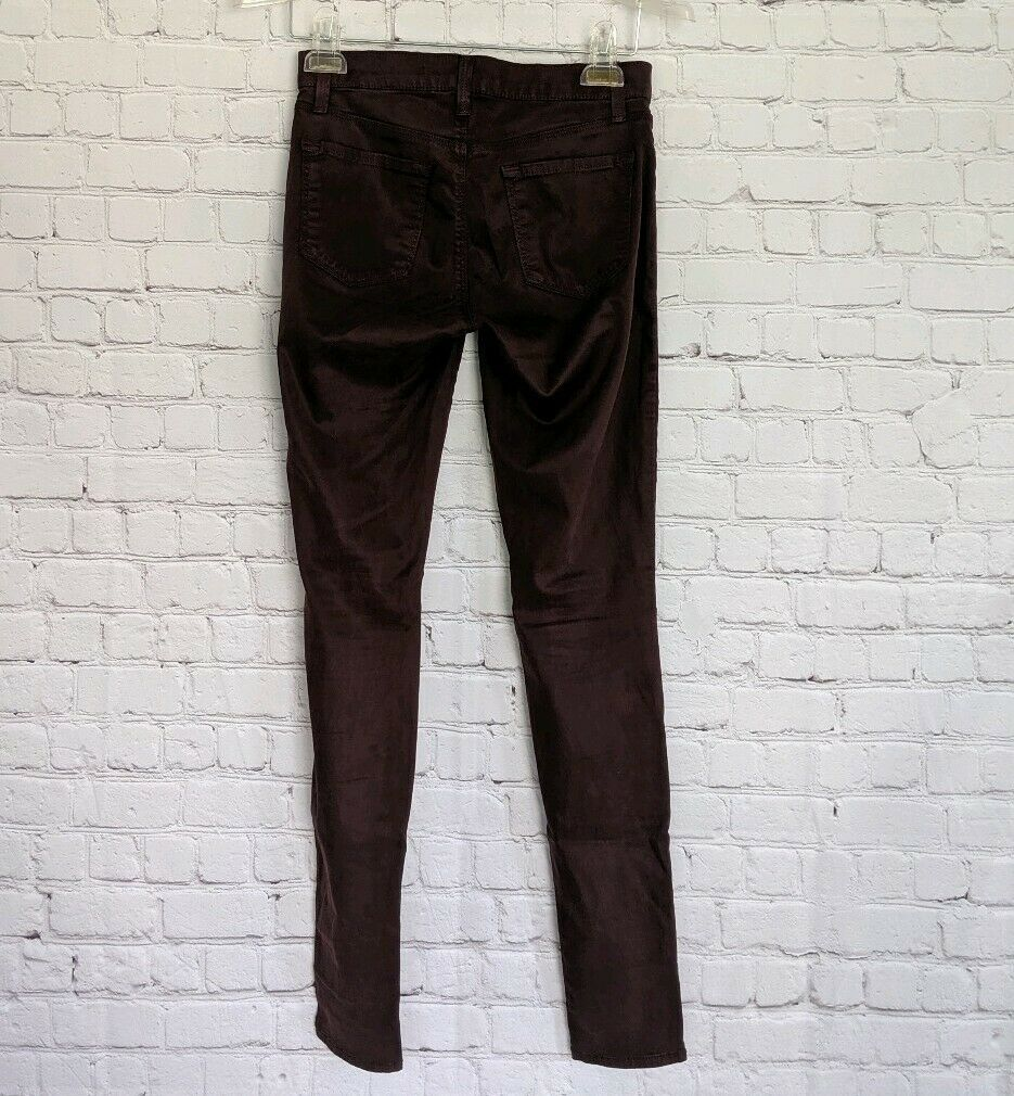 J.BRAND | Women's Size 25 Super Skinny Pinot Purple Jeans Pants Stretch image 3
